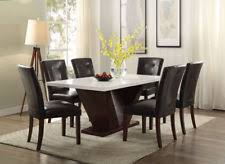 marble top dining room table. Acme Forbes 7 Piece White Marble Top Dining Room Set 72120 Table