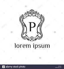 Restaurant P L Example P Brief Vektor Logo Design Vorlage Luxus Monogramm Für Hotel