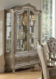 Living Room China Cabinet Homelegance Florentina China Cabinet Silver Gold 1867 50 55