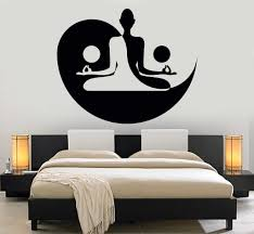 Small Picture Vinyl Wall Decal Yin Yang Yoga Zen Meditation Bedroom Decor