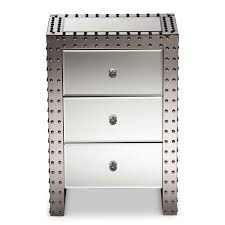 vegas white glass mirrored bedside tables. Baxton Studio | Wholesale End Tables Living Room Furniture Vegas White Glass Mirrored Bedside