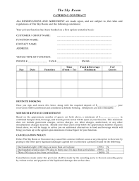 catering contract 2pdf 2png wedding catering contract sample
