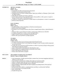Courier Resume Courier Resume Samples Velvet Jobs