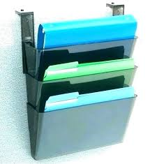 plastic wall file folder holders rack wire vertical hanging holder staples mounted cubicle files folders smoke
