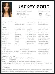Bistrun Acting Resume Template Acting Resume Template Word Theater
