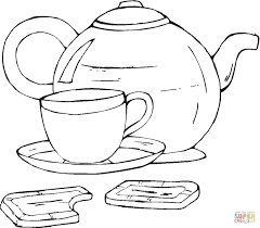 Surprise Coffee Mug Coloring Page Cup Pages Fr 10515