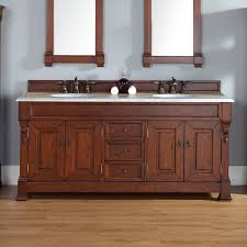 Darby Home Co Bedrock  Double Country Oak Bathroom Vanity Set - Oak bathroom vanity cabinets