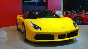 ferrari 2014 yellow. brussels belgium january 12 2016 ferrari 488 gtb yellow sports car on 2014 s