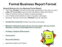 Report Structure Template Academic Example