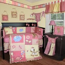 enchanting baby nursery room design with girl jungle baby bedding engaging pink baby nursery room