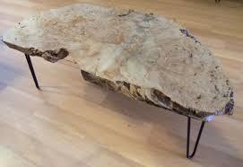 Burl Coffee Tables Handmade Coffee Table Big Leaf Maple Burl By Ozma Design