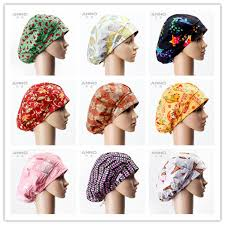 Scrub Cap Pattern Simple Animal Cartoon Pattern Printing Bouffant Surgical Scrub Hats Women