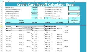 Debt Payoff Excel Snowball Calculator Excel Calculator Excel Debt Calculator Excel