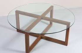 glass round coffee table white w thippo