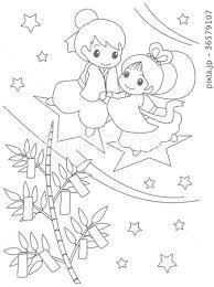 ベスト 七夕 塗り絵 無料の印刷用ぬりえページ