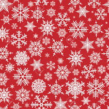 Christmas Pattern Gorgeous Illustration Of Christmas Pattern With White Snowflakes On Red