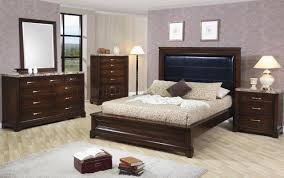 Marble Top Bedroom Furniture Dark Oak Finish Contemporary 5pc Bedroom Set W Marble Tops