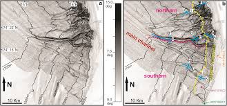 Hubbard Scientific Physiographic Chart Of The Seafloor Geomorphology And Development Of A High Latitude Channel