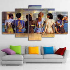 image is loading 5 pcs pink floyd back printing canvas wall  on pink floyd wall decor with 5 pcs pink floyd back printing canvas wall art modern hanging living