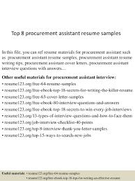 Junior Buyer Resume Sample Best of Top 24 Procurement Assistant Resume Samples