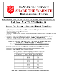 Kansas Gas Service Customer Service Kansas Gas Service Share The Warmth Heating Assistance Program Eflyers