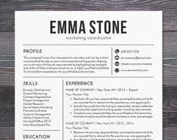 Resume Template - CV Template for Word, Mac or PC, Professional Resume  Design,