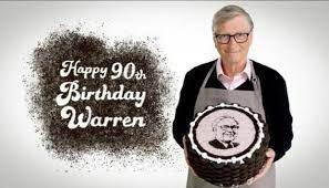 Bill Gates offers sweet gift to desert-a-holic Warren Buffet on his 90th  birthday