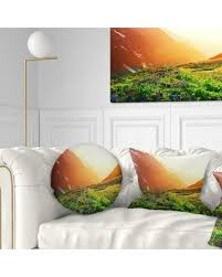 Sunny day home office Glass Ceiling Design Art Designart beautiful Meadow On Sunny Day Landscape Printed Throw Pillow Peoplecom Spectacular Deals On Design Art Designart beautiful Meadow On Sunny