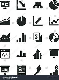 Solid Black Vector Icon Set Pie Chart Vector Line Graph
