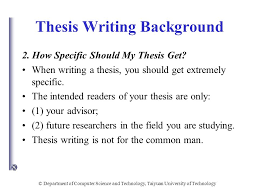 computer english for computer major master candidates ppt thesis writing background