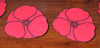 poppy template cut out poppies