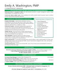 Resume Resume Samples Project Management Resumes
