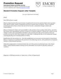requesting a promotion letter change in fte request change in fte request letter template