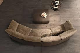 swing curved sofa by gamma arredamenti