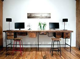 long home office desk reclaimed wood and vintage crates used to create a lovely work extra long writing desk