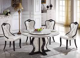 dining room clic round marble dining table for 4 dining chairs above white ceramic floor front floor l for contemporary home interior design the