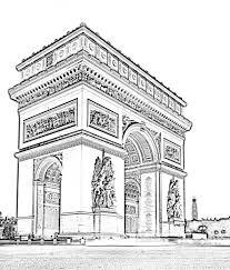 L Arc De Triomphe En Haute D Finition Coloriera Partir De La