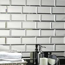 decoration echo 3 x 6 mirror glass l stick subway tile wallpaper backsplash