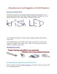 Japan Led Lighting Manufacturer