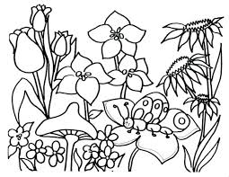 Flower Coloring Sheets For Toddlers Pages Toddler Spring Simple