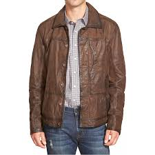 men s designer distressed brown leather jacket zoom men s