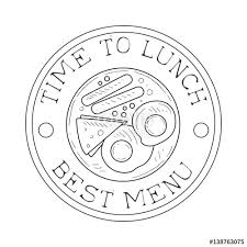 500_F_138763075_Q6VNjTdvbj9hCDV3TWtE9HOfGmLqNaMd cafe lunch menu promo sign in sketch style with sandwich, apple on sandwich label template