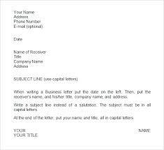 Proper Business Letter Format Business Letter Format Subject Courtnews Info