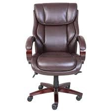bellamy coffee brown bonded leather executive office chair by la z boy