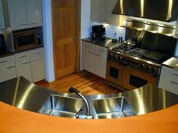 custom stainless steel with brushed 4 finishes countertops chicago