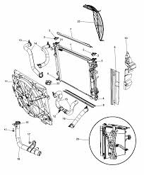 2008 chrysler town country radiator related parts