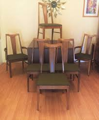 mid century modern dining chair set with contrasting veneer by basic witz