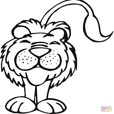 Small Picture Smiling Lion coloring page Free Printable Coloring Pages