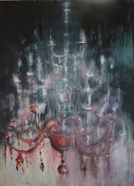 saatchi art artist laura beatrice gerlini painting red crystal chandelier art