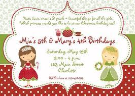 Christmas Tea Party Invitations Princess Tea Party Christmas Birthday Party Invitation Christmas Tea Party Birthday Invitation You Print Or I Print